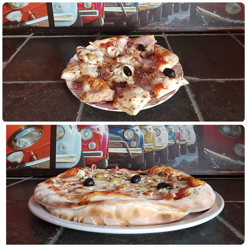 La pizza double